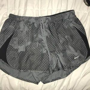 Gently Used Grey Nike running shorts Size M